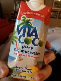 Coconut water is great to replenish electrolytes and to hydrate!!
