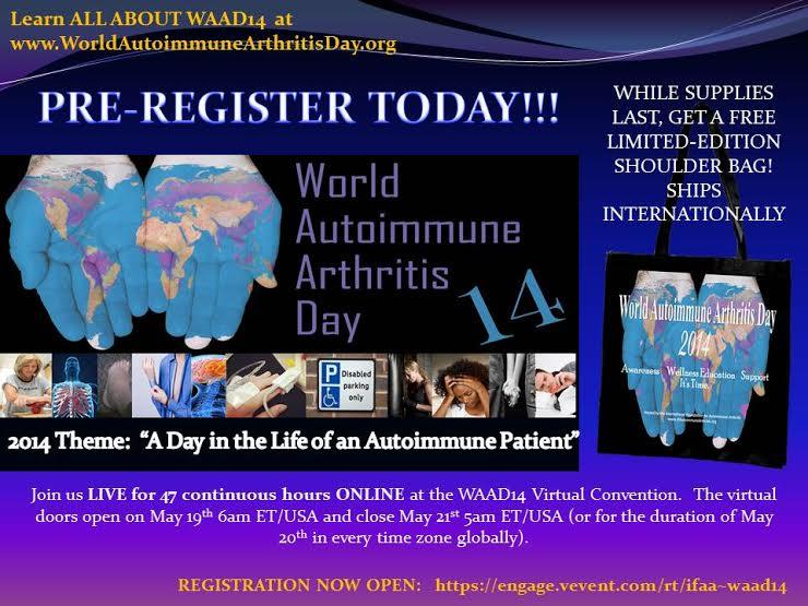 World Autoimmune Arthritis Day 2014! {Register TODAY!}