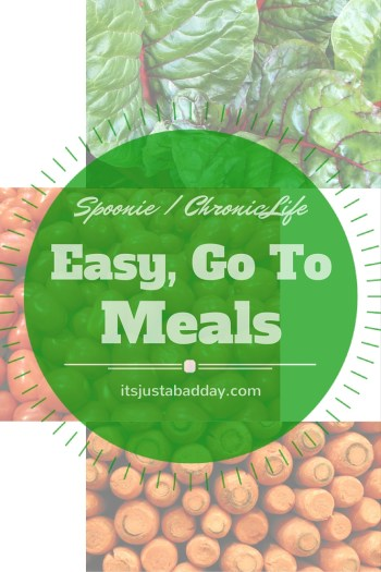Ask Juls - Easy To Go To Meals For When You're Low On Energy, Are Having A Flare or Don't Have A Lot of Time! | itsjustabadday.com Certified Holistic Health Coach Julie Cerrone
