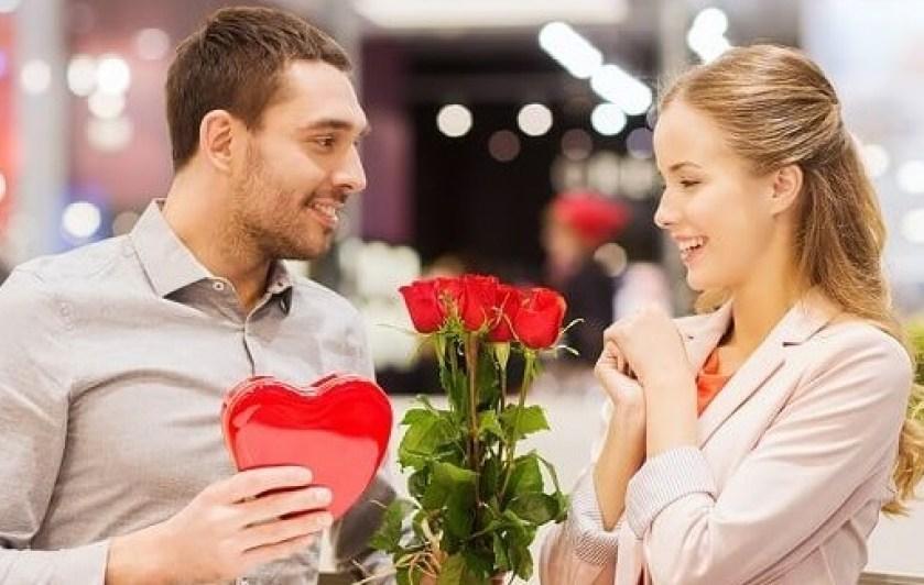 Image result for men giving women valentines gift