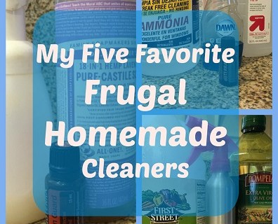 My Five Favorite Frugal Homemade Cleaners