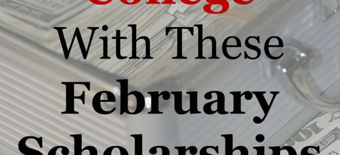 February Scholarships – Week Three