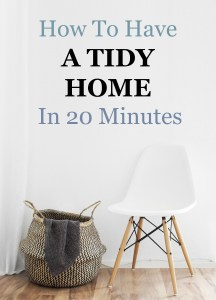 These 12 tips for a neat and tidy home are SO GOOD! No more concerns over last minute company I feel like I really can have a tidy house ready for guests in 20 minutes. Pin this one for sure!