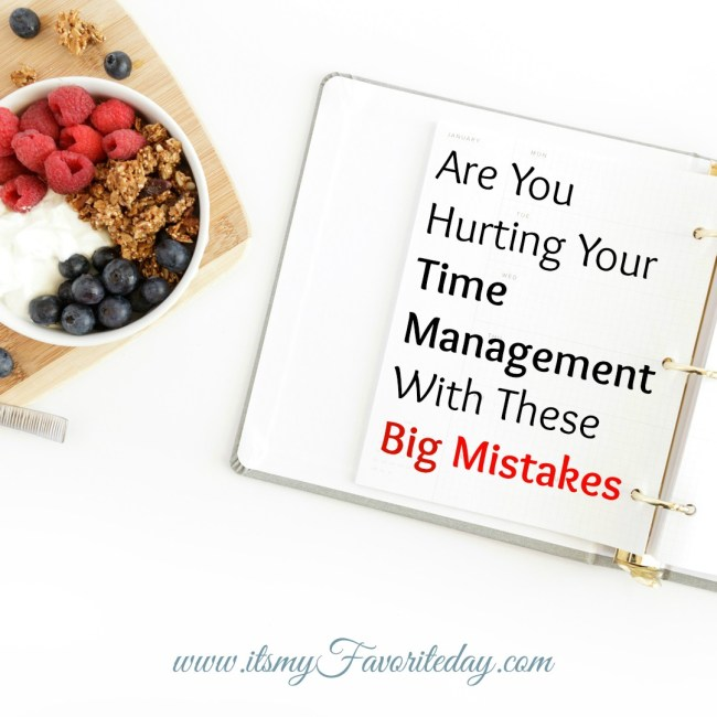 productivity time management mistakes