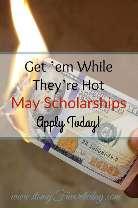 Love, Love, Love this. May 2017 Scholarship opportunities. I know scholarships have been the best way to pay for college make sure you pin this one!