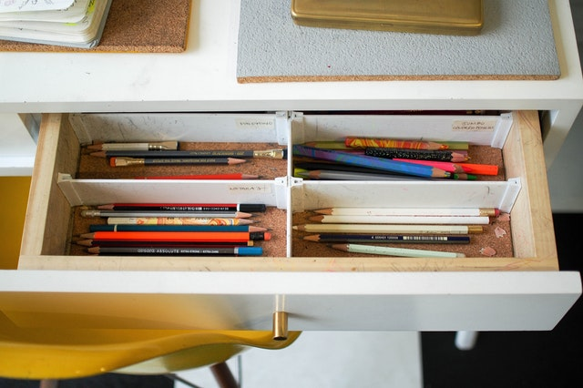 organizing unused items clutter