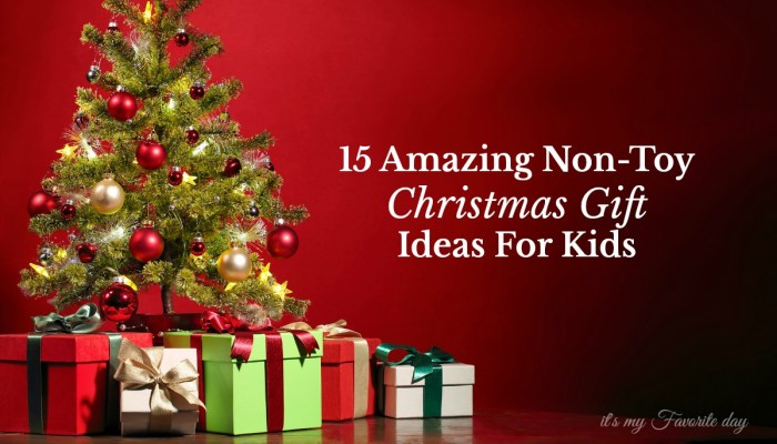Finding non-toy Christmas gifts that kids will love is not always easy, but here are some super fun gifts that will be a big hit.