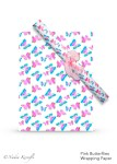 Pink Butterflies, Gift Wrap