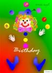 Nadia Kronfli, Clown, Birthday Card