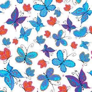 pattern of multicolor butterflies for children