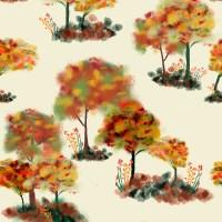 Autumnal trees & flowers