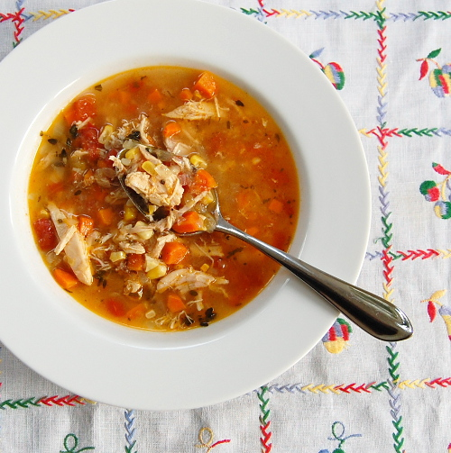 End of Summer Chicken and Vegetable Soup