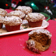 Gingerbread Bran Muffins with Orange Crumb Topping