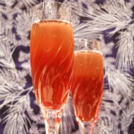 A Winter Solstice (Pomegranate Mimosa with Cinnamon and Orange Peel)