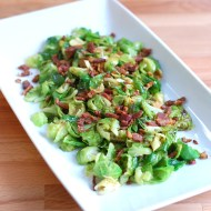Brussels Sprouts with Cider and Duck Bacon