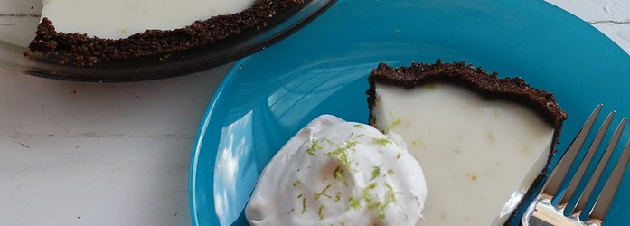 Coconut-Lime Icebox Pie (Egg-Free) for Pi Day