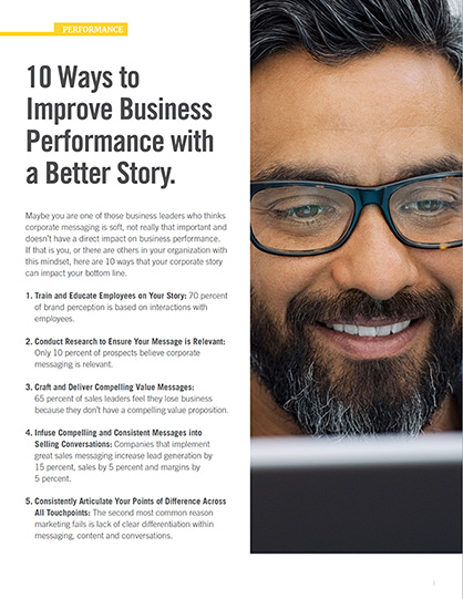 10 Ways to Improve Business Performance with a Better Story