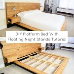 Diy Platform Bed With Floating Night Stands Tutorial Its Overflowing