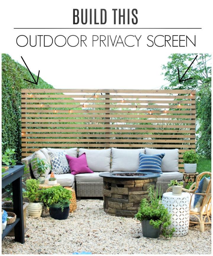 50 diy outdoor privacy screen ideas you