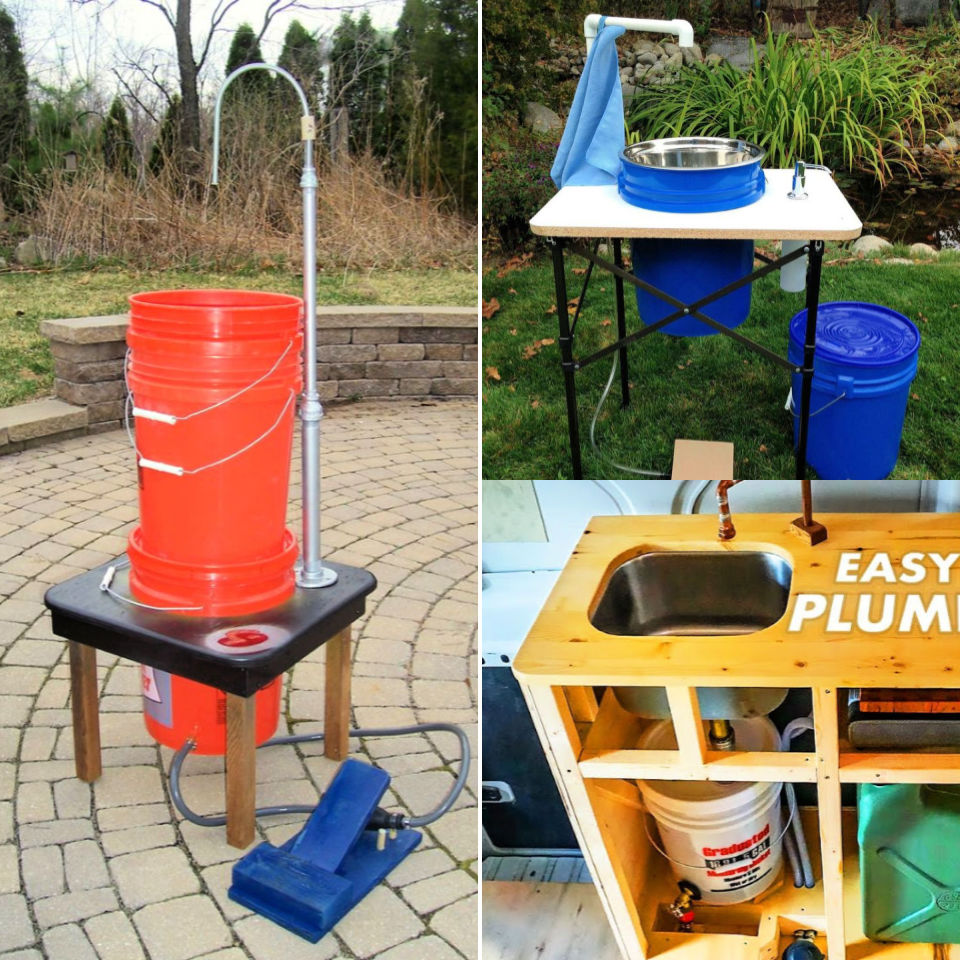 10 diy camping sink ideas that you can