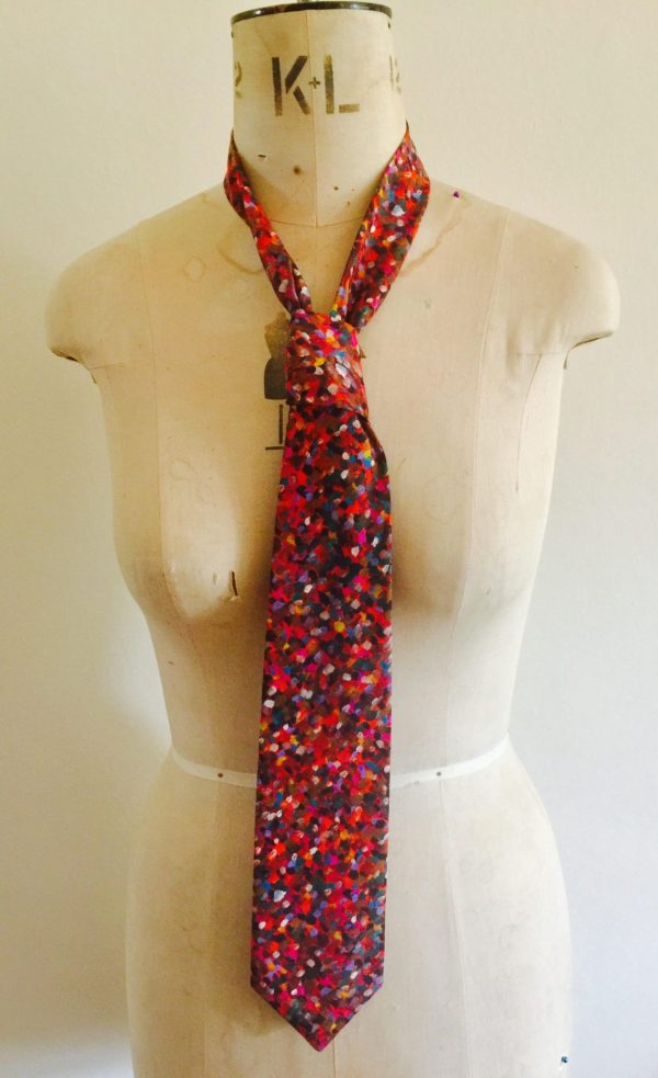 Speckled print tie