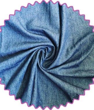 8oz 100% Cotton washed blue denim