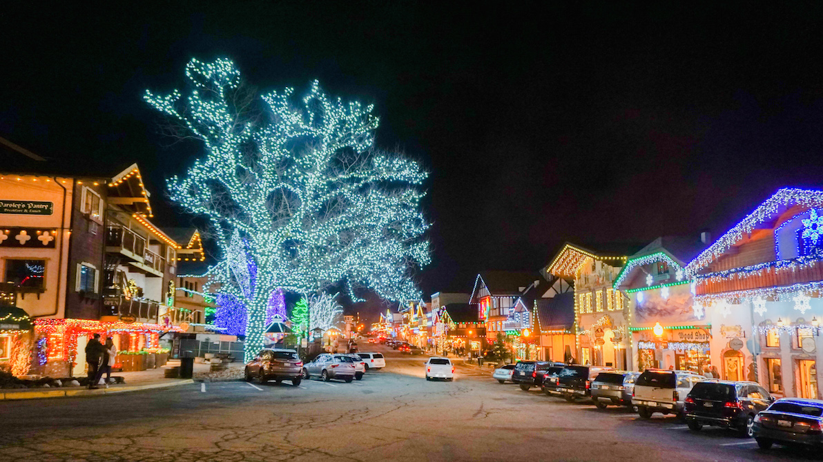 christmas lights at leavenworth