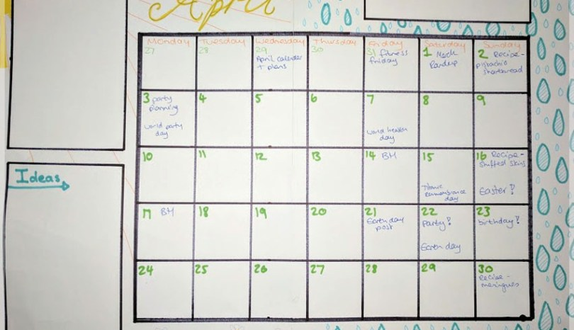 April – goals and to do list for this month