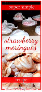 super simple strawberry meringues recipe