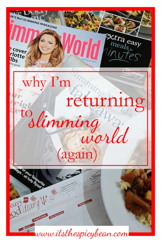 I am returning to slimming world