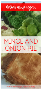 the spicy bean - vegan mince and onion pie recipe - www.itsthespicybean.com