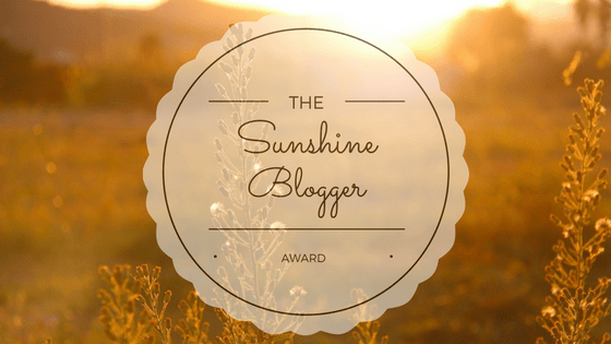 the sunshine blogger award part 1