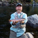 """Gunnison River brown trout on brown-gold glitter mayfly nymph (""""pinchoro"""") 051"""
