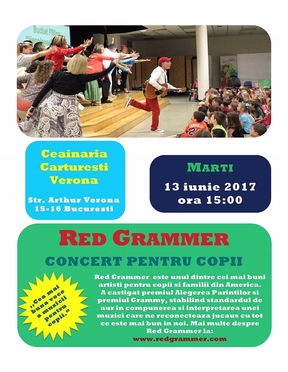 Red Grammer aduce cele mai indragite cantece pentru copii la Bucuresti