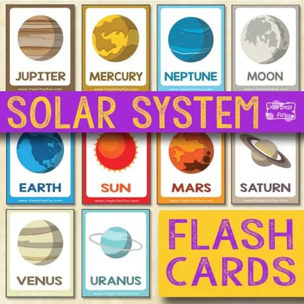 Solar System Flashcards - itsybitsyfun.com