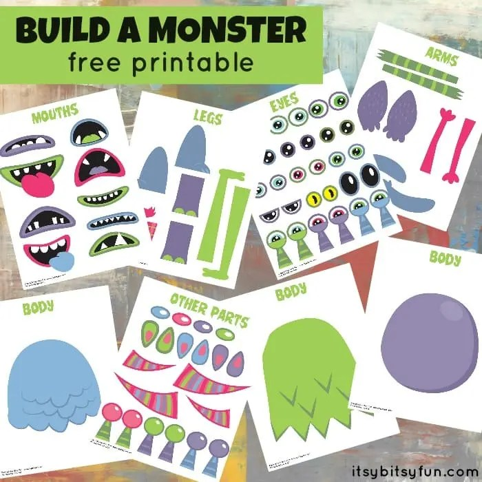 Free Printable Build A Monster Itsy Bitsy Fun