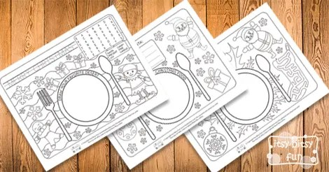 Printable Christmas Placemats Itsy Bitsy Fun