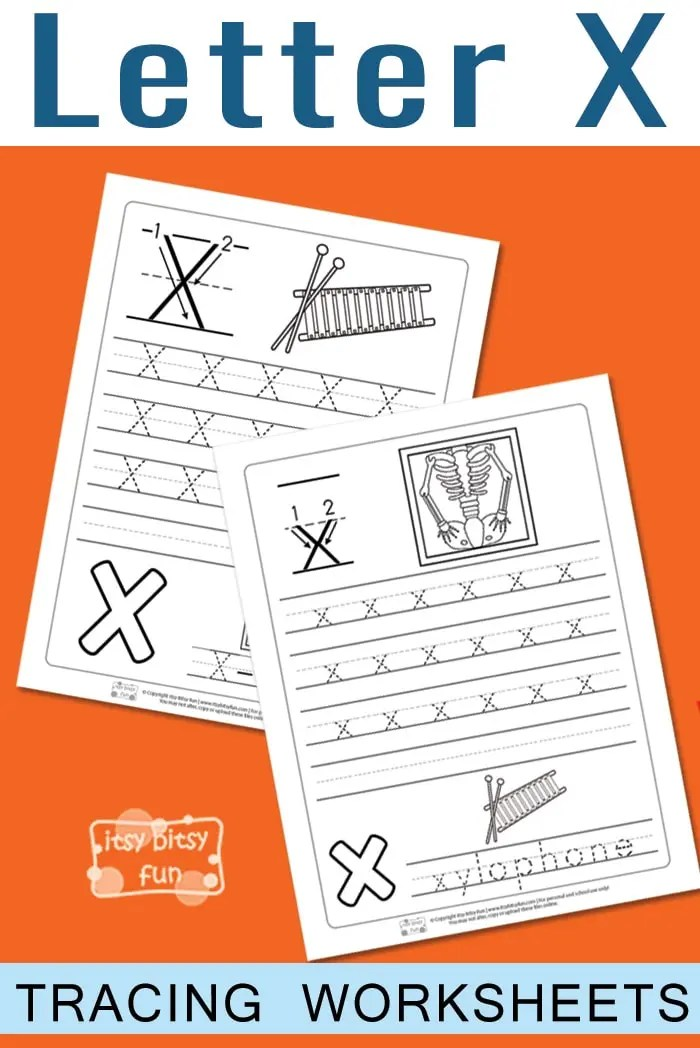 Letter X Tracing Worksheets Itsybitsyfun Com