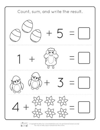 Image Result For Kinder Math Worksheets