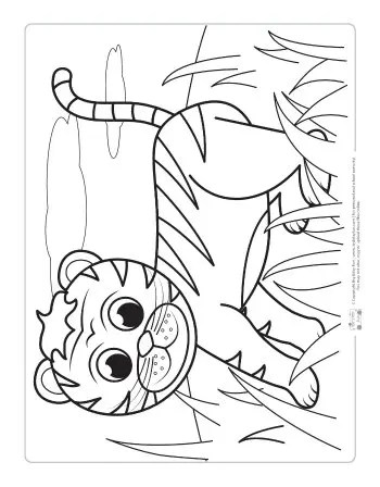 Safari and Jungle Animals Coloring Pages for Kids - Itsy ... | animal coloring pages for toddlers