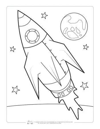space coloring page # 1