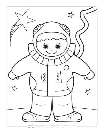 space coloring page # 11