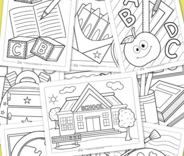Back To School Coloring Pages For Kids Itsy Bitsy Fun