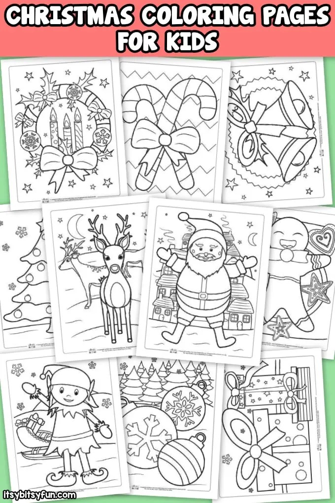 Free Christmas Coloring Pages Itsybitsyfun Com