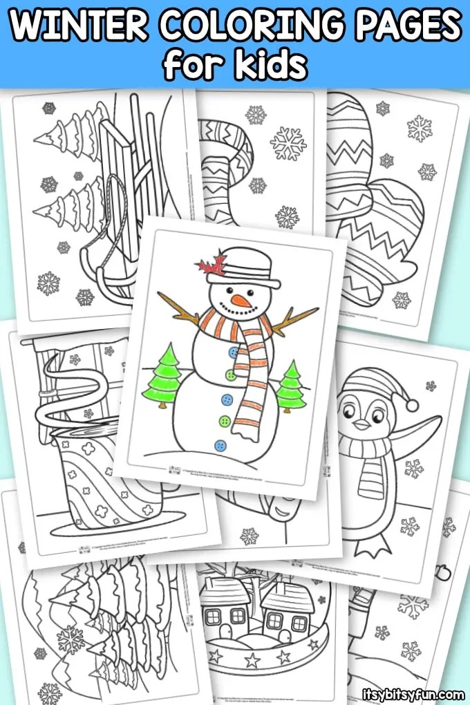 Winter Coloring Pages Itsybitsyfun Com