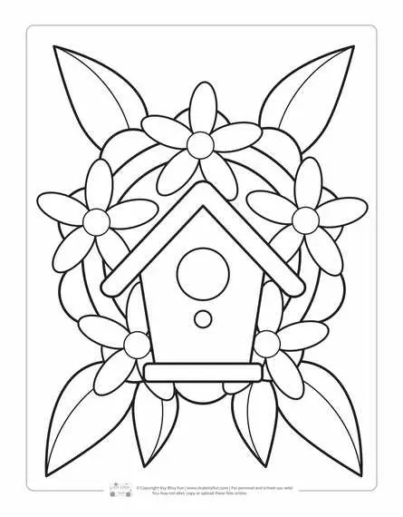 Spring Coloring Pages For Kids Itsybitsyfun Com