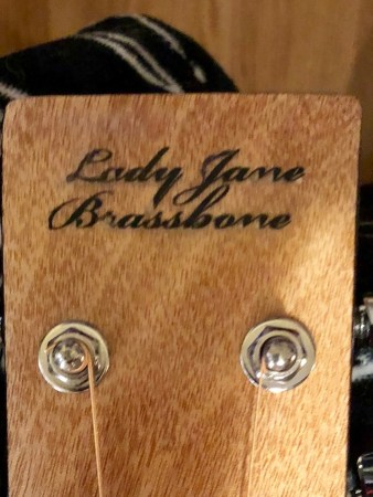 The headstock engraving is a bit wonky, but still Lady-like!