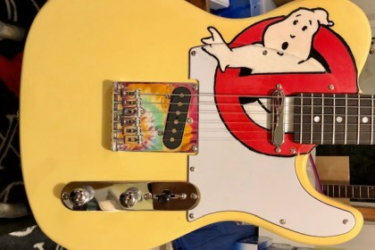 ghostbusters guitar front