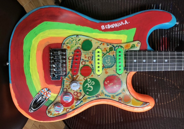 Rocky guitar full frontal