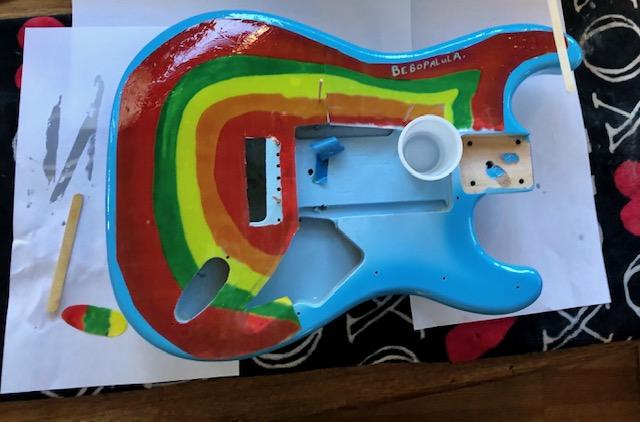 Rocky replica guitar top